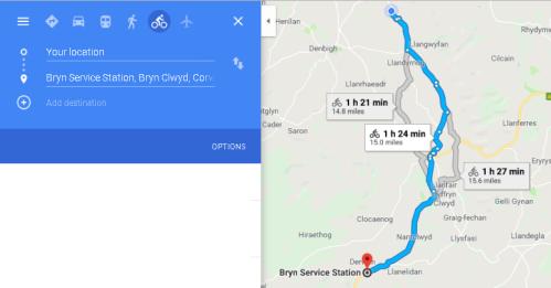BALA - route we took